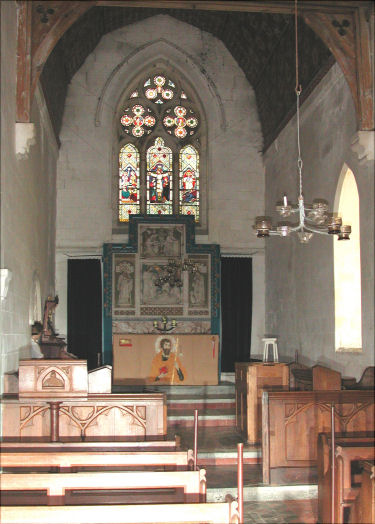 View of the interior of St. James church, Bicknor