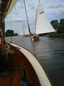 Sailing up the Thurne