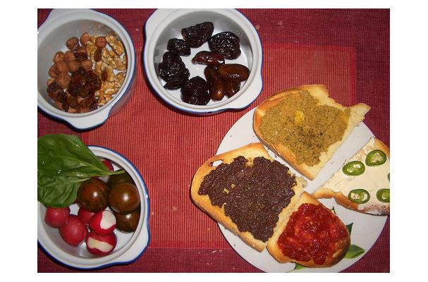 Picture of typical Passover food