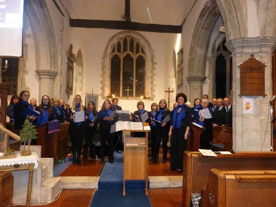 Photo of the Community Choir at our Carol Service